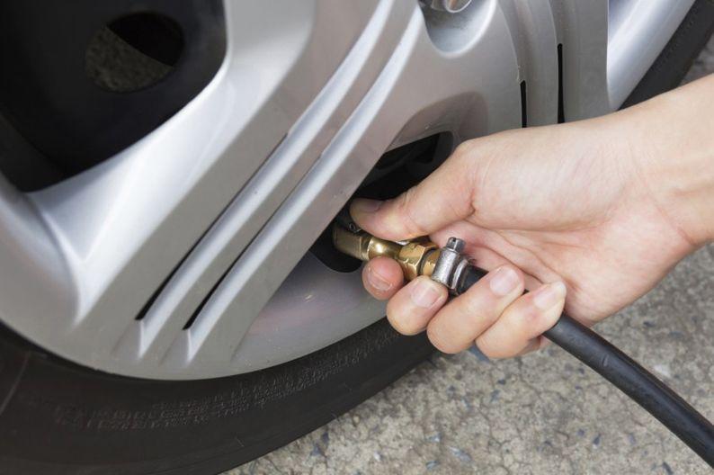 Tire air pressure checking