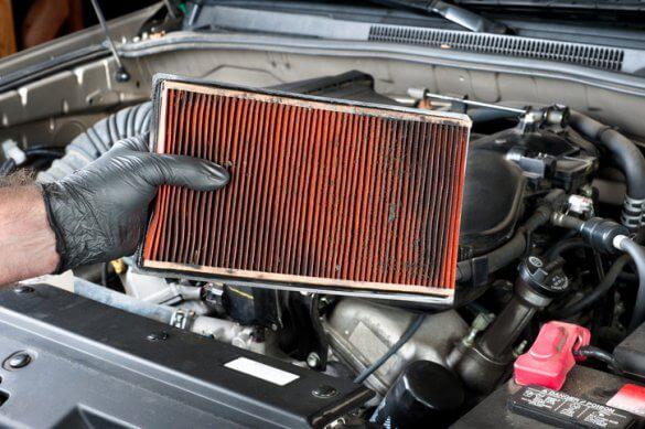 Car maintenance: air filter