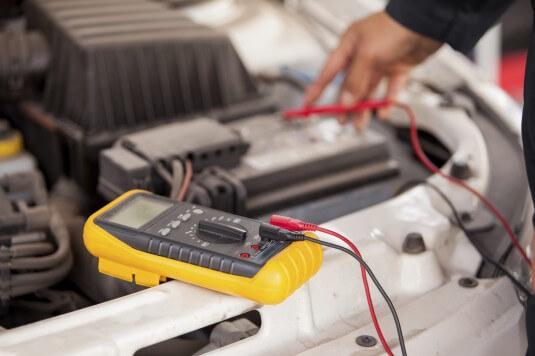 Car maintenance: battery