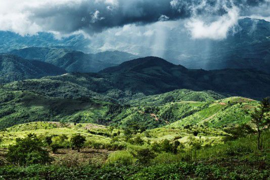 Unwetter über Myanmar, Myanmar/Thailand 2013