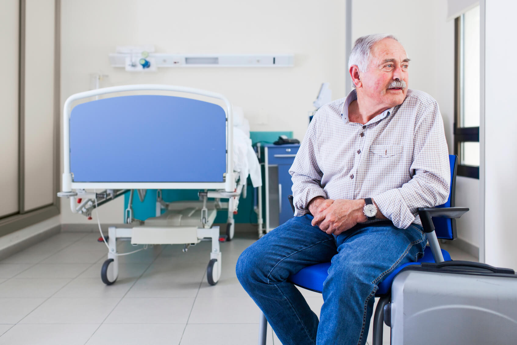 Patient about to leave hospital.
