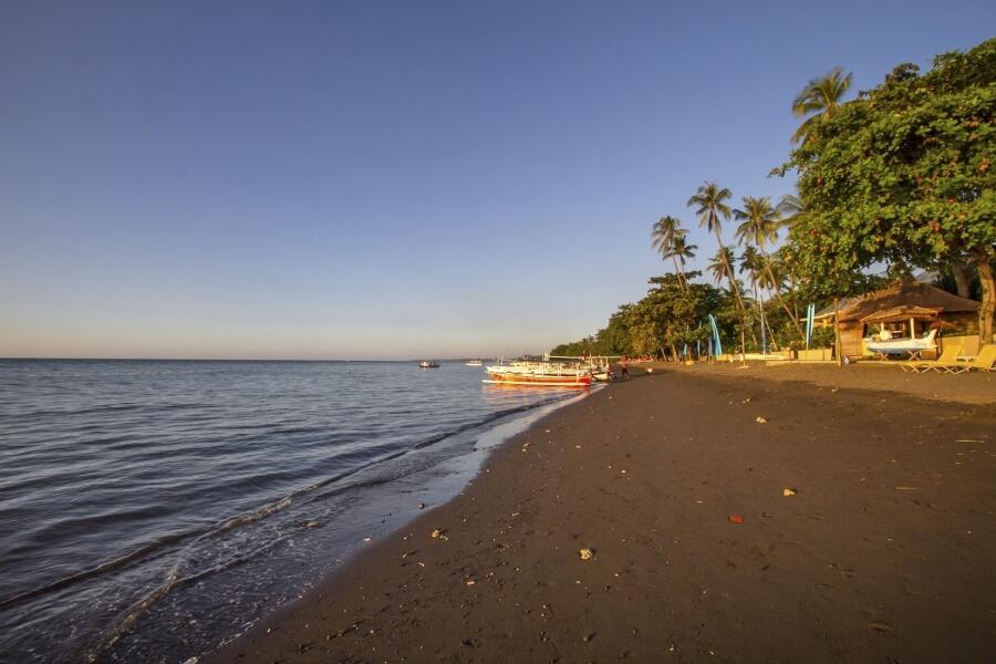 Lovina beach at Bali during sunset