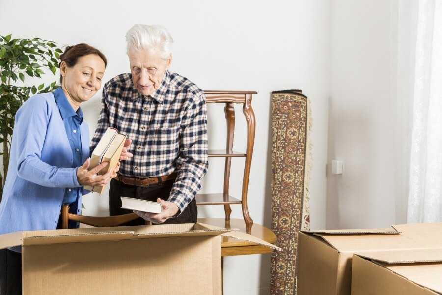 Relocation: Senior adult moving house