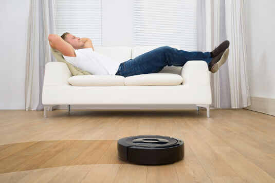Devices like the Roomba can autonomously move around a house and clean its floors.