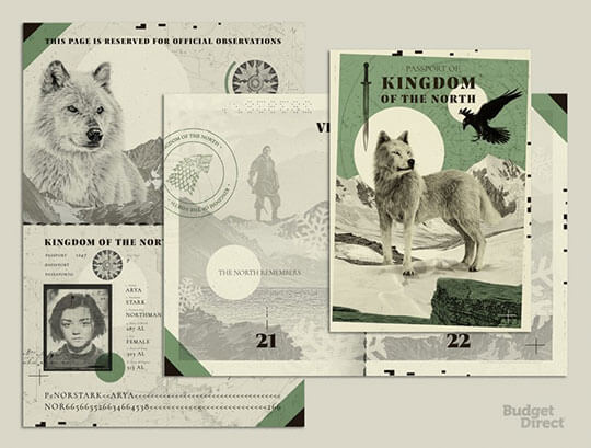 7 Passport Designs for Fictional Countries