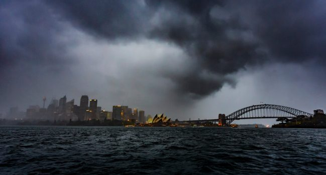 Hail Storm over Sydney