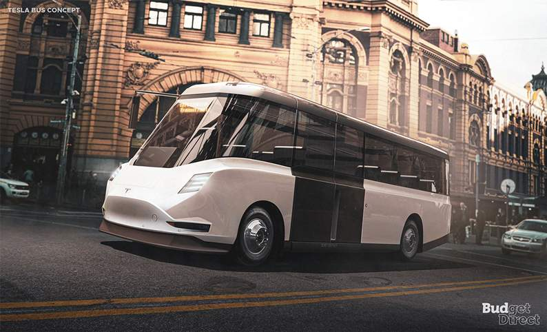 Tesla city transit bus concept