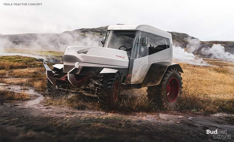 Tesla tractor concept