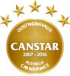 2015 Money Magazine Insurer of the Year Award with 2007-2014 CANSTAR Award