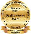 Reader's Digest - Quality Service Award 2019 - Winner