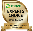 MOZO's Expert's Choice 2019 & 2020 - Exceptional Value Car Insurance