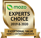 MOZO's Expert's Choice 2019 & 2020 - Exceptional Value Home and Contents Insurance