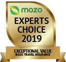 MOZO's Experts Choice 2019 - Exceptional Value Basic Travel Insurance