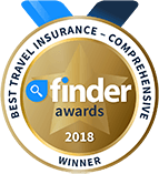 finder Awards 2018 Winner, Best Travel Insurance (Comprehensive)