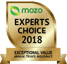 MOZO's Experts Choice 2018 - Exceptional Value Annual Travel Insurance