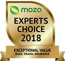 MOZO's Experts Choice 2018 - Exceptional Value Basic Travel Insurance